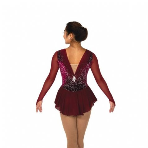 100 Bordeaux Ballet Dress