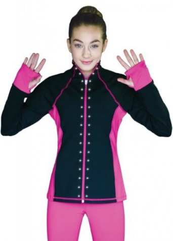 JS792 Color Contrast Elite Figure Skating Jacket