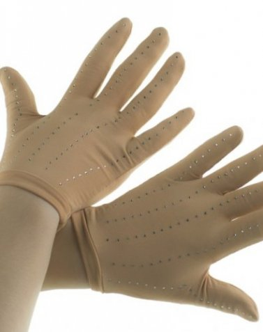 Gloves with rhinestones