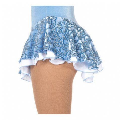 314 Frost Glam Skirts - Bluebell/White