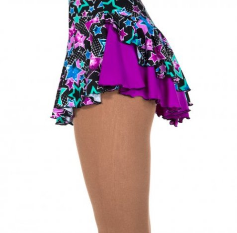 504 – Double Back Skirt - Stars/Orchid