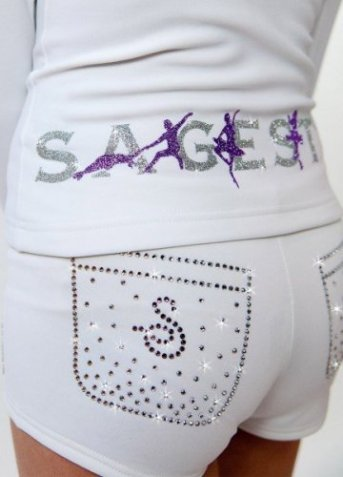 Shorts with swarovski White
