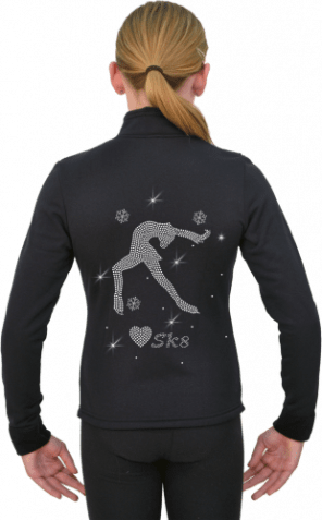 J11- Lay Back Spin Skater Polartec jacket with rhinestones