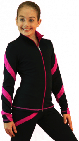 J636F Spiral jacket Fucsia Light Weight Fleece Jacket