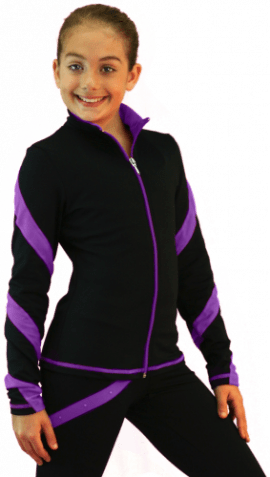 J636F Spiral jacket Purple Light Weight Fleece Jacket