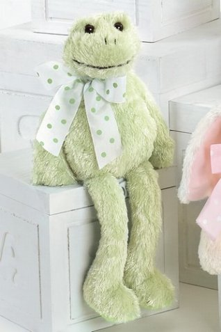 "JULIETTE PIROUETTE is a wonderful Ballerina Frog!   She is 15"" tall and a super soft green plush.   Her ballet costume is light"