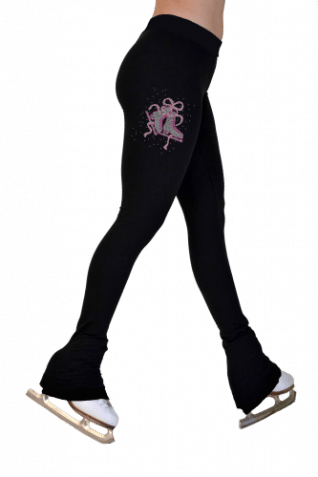 NEW!P622F BB-MRF Lightweight fleece tights with swarovski print