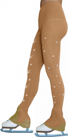 TL8896-SW Footless over the heal tights with crystals