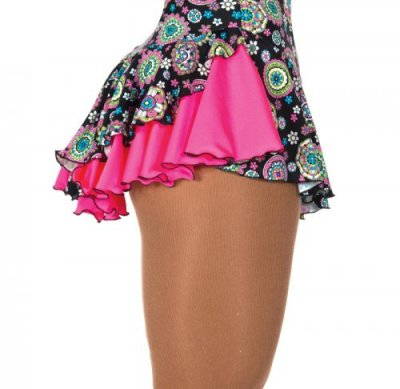 508 Double Back Skirt - Kaleidoscope/Pink