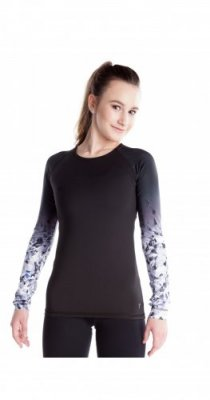 C121 SHIRT WITH SUBLIMATED SLEEVES - ROSE BLACK CRYSTAL