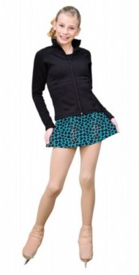 Turquoise Leopard A-line Skirts