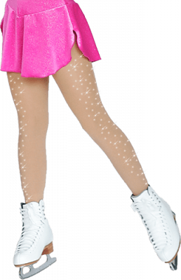 8830 Crystals on both legs  Footed tights
