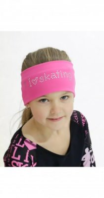 I LOVE SKATING HEADBAND Pink