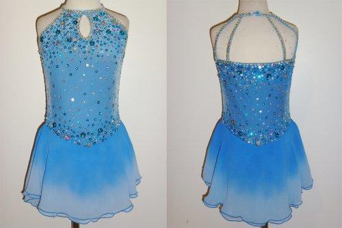 Sparkling Diamonds Blue - Custom Made-To-Fit Ice Skating ...